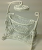 dollhouse furniture miniature swing crib white
