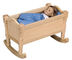 guidecraft doll cradle design natural she'll