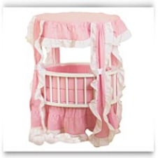 Baby Doll Wooden Canopy Crib