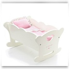 Baby Doll Wooden Cradle