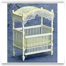 Buy Now Dollhouse White Canopy Crib