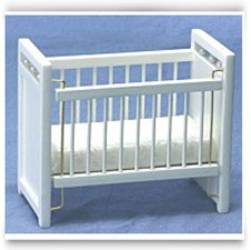 Buy Now Dollhouse White Nursery Crib