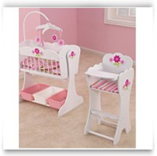 Buy Now Floral Fantasy Doll Furniture Set Cradle