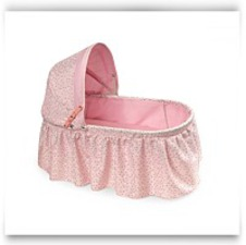 Buy Now Folding Doll Cradle With Rosebud Fabric