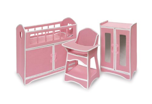 Folding Doll Furniture Set With Storage - Baby Doll Cribs