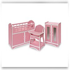 Folding Doll Furniture Set With Storage