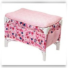 Buy Now Les Classiques Floral Doll Bed And Changing