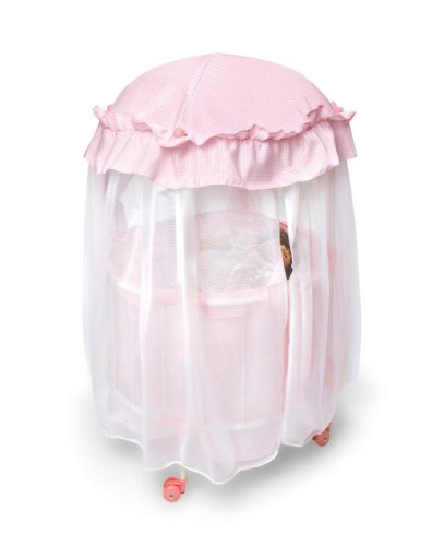 Royal Pavilion Round Doll Crib With Canopy Baby Doll Cribs
