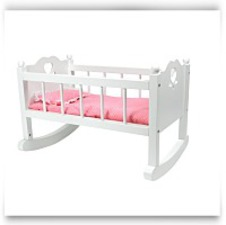 White Baby Doll Cradle Furniture