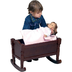 guidecraft doll cradle espresso little playing