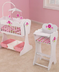 kidkraft floral fantasy doll furniture cradle
