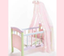 canopy doll crib take special care