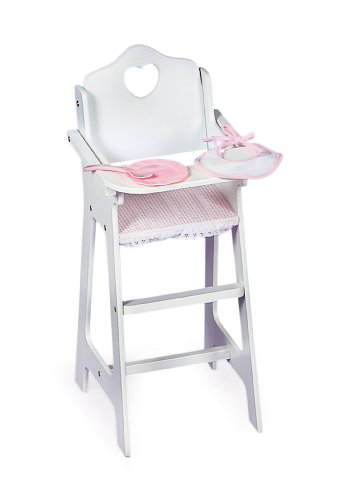 Doll High Chair With Plate Bib And Spoon