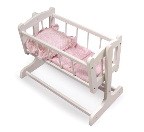 Heirloom Style Doll Cradle With Blanket
