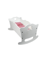 White Baby Doll Cradle And Bedding Furniture